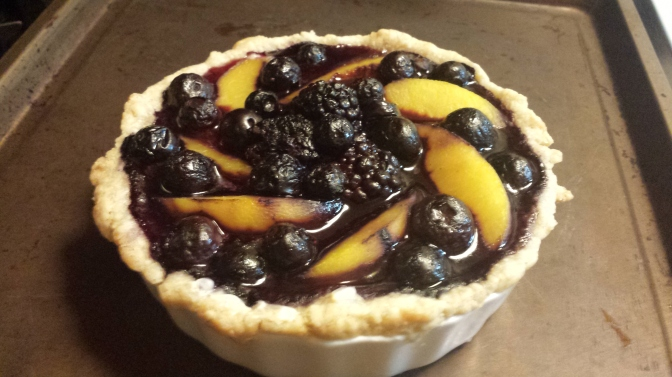 Peach Berry Cheese Tart