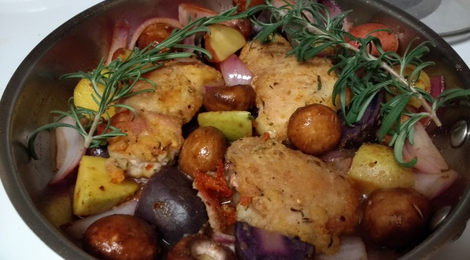 Rosemary Coriander Chicken One Pan Meal