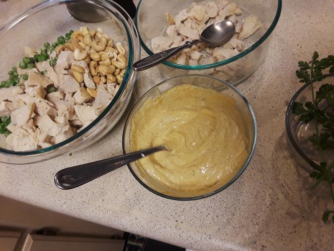 Chicken Cashew Curry Salad