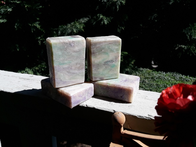 Coconut Lime Verbena Hot Process Soap with Green Tea Butter