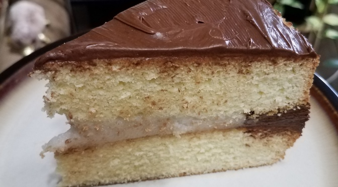 Coconut Boston Cream Cake
